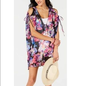 NWT Bar III Tech Floral Tunic Swim Cover-up